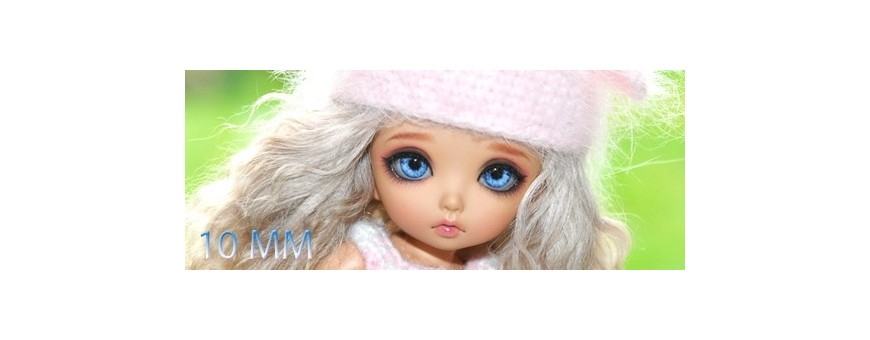 YEUX BJD 10 MM : LATI YELLOW, PUKIFEE, YOSD, IPLEHOUSE...