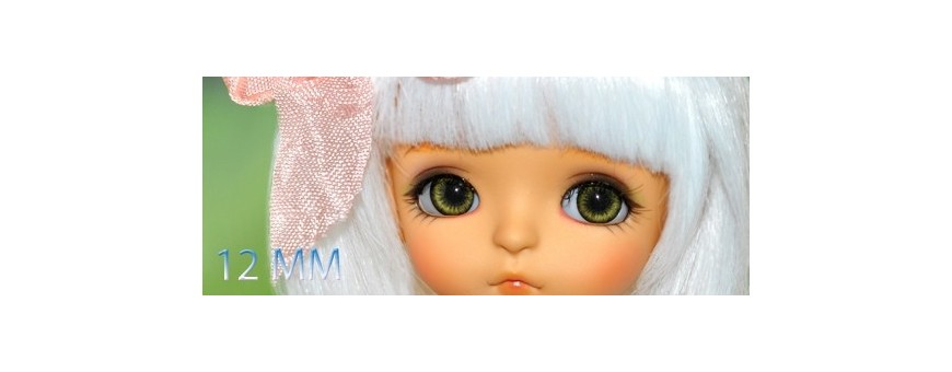 YEUX BJD 12 MM : LATI YELLOW, YOSD, SD, IPLEHOUSE...