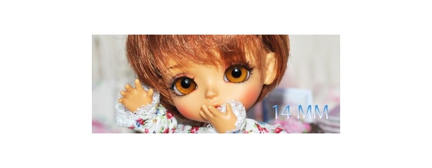 YEUX BJD 14 MM : LATI YELLOW, YOSD, SD, IPLEHOUSE...