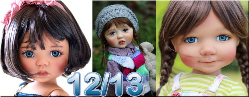 "12/13"" MY MEADOWS 18"" AND WITCHELL DOLLS"