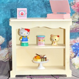 WOODEN SHELF FOR BARBIE FASHION ROYALTY BLYTHE PULLIP MOMOKO MONSTER HIGH DOLLHOUSE DIORAMA 1/6