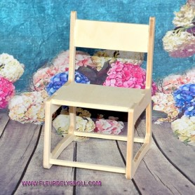 WOODEN DESK CHAIR FOR BARBIE FASHION ROYALTY BLYTHE PULLIP MOMOKO MONSTER HIGH DOLLHOUSE DIORAMA 1/6 DIY