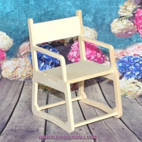 CHAISE FAUTEUIL DE BUREAU DIY EN BOIS MEUBLE BARBIE FASHION ROYALTY BLYTHE PULLIP MOMOKO MONSTER HIGH DOLLHOUSE DIORAMA 1/6