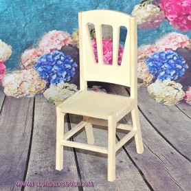 WOODEN CHAIR DIY BARBIE FASHION ROYALTY BLYTHE PULLIP MOMOKO MONSTER HIGH DOLLHOUSE DIORAMA 1/6