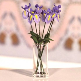 MINIATURE TALL GLASS VASE MINIATURE BARBIE FASHION ROYALTY BJD LATI YELLOW BLYTHE PULLIP DIORAMA DOLLHOUSE