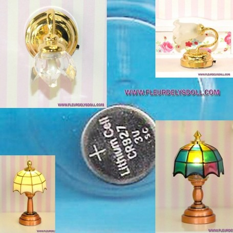 CR927 3V LITHIUM CELL BATTERY FOR MINIATURE LED LAMP LIGHT DOLL DIORAMA DOLLHOUSE