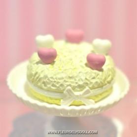 FRUITS FRENCH CAKE MINIATURE LATI YELLOW BARBIE FASHION ROYALTY BLYTHE PULLIP SYBARITE TONNER FICON JAMIESHOW DIORAMA 1:6
