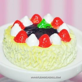GOURMET CAKE MINIATURE LATI YELLOW BARBIE FASHION ROYALTY BLYTHE PULLIP SYBARITE TONNER FICON JAMIESHOW DIORAMA 1:6