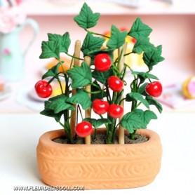 BEAUTIFUL CLAY JUICY TOMATO PLANT MINIATURE LATI YELLOW PUKIFEE BJD BLYTHE PULLIP BARBIE DOLL ROOM DIORAMA DOLLHOUSE