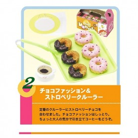 RE-MENT MINIATURE DONUTS TO GO LATI YELLOW BARBIE BLYTHE PULLIP DIORAMAS....
