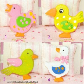 OISEAUX POULE DÉCORATIFS MINIATURE LATI YELLOW PUKIFEE BJD BARBIE FASHION ROYALTY BLYTHE PULLIP DIORAMAS DOLLHOUSE 1/6