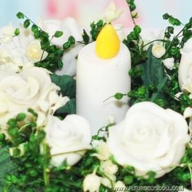 MINIATURE FLOWERS CENTERPIECE LATI YELLOW DIORAMA DOLLHOUSE 1:12