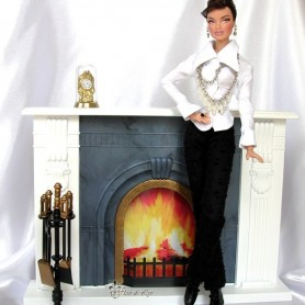 FIREPLACE FOR BARBIE FASHION ROYALTY SILKSTONE MOMOKO BLYTHE PULLIP SYBARITE TONNER BJD