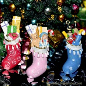 BOTTES DE NOEL EN RÉSINE MINIATURE BARBIE FASHION ROYALTY BJD LATI YELLOW BLYTHE PULLIP DOLLHOUSE DIORAMA VITRINE 1:12 1:6