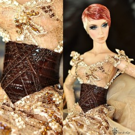 BROWN CORSET BELT FOR SYBARITE TONNER JAMIESHOW FICON DOLLMORE BJD DOLLS ...