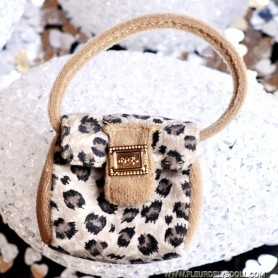 HAND BAG SPOTTED LEOPARD SILKSTONE BARBIE FASHION ROYALTY SYBARITE TONNER ...