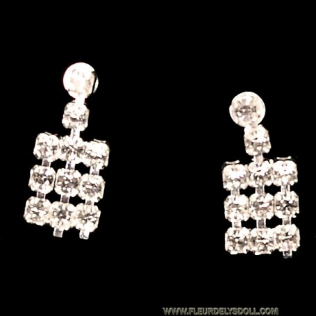 EARRINGS SILVER DIAM SYBARITE KINGDOM DOLL TONNER JAMIESHOW AVANT GUARD 16""