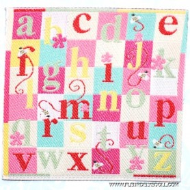 PINK ALPHABET BLANKET RUG MINIATURE BJD BJD LATI YELLOW PUKIFEE BARBIE DIORAMA DOLLHOUSE