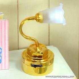MINIATURE LED OIL LAMP LATI YELLOW BARBIE FASHION ROYALTY BLYTHE PULLIP DOLLHOUSE 1:6 1:12