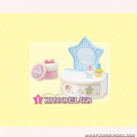 RE-MENT MINIATURE LITTLE TWIN STARS BEDROOM LATI YELLOW BARBIE BLYTHE PULLIP DIORAMAS DOLLHOUSE