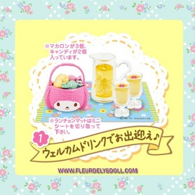 RE-MENT MINIATURE RE-MENT SANRIO MINIATURE MY MELODY FLORAL PARTY SET LATI YELLOW BLYTHE PULLIP DIORAMAS DOLLHOUSE