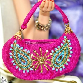 HAND BAG SILKSTONE BARBIE FASHION ROYALTY SYBARITE TONNER ...
