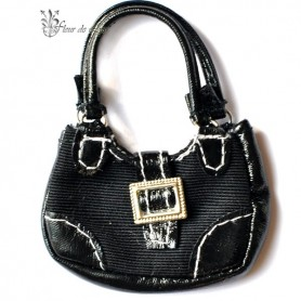 HAND BAG BLACK SILKIE BARBIE SILKSTONE FASHION ROYALTY SYBARITE TONNER ...