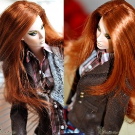 PERRUQUE WIG PRETTY GIRL POUR AVANT GUARD, FICON, NUMINA, DEVA ... DOLLS