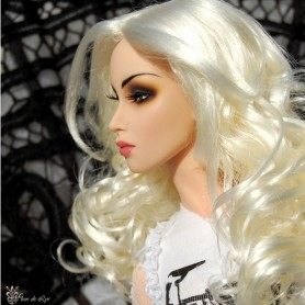 "PERRUQUE WIG OLYMPE WHITE BLOND POUPÉE SYBARITE KINGDOM AVANT GUARD FICON NUMINA JAMIESHOW DOLLS 4/5"" 5"""