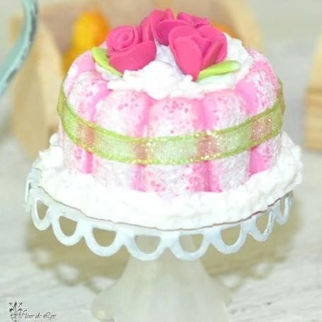 REALISTIC CHARLOTTE CAKE MINIATURE LATI YELLOW PUKIFEE BARBIE FASHION ROYALTY BLYTHE PULLIP DOLLHOUSE DIORAMA 1:6