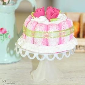CAKE STAND MINIATURE BARBIE BJD BLYTHE PULLIP LATI YELLOW PUKIFEE DOLLHOUSE DIORAMA 1:6