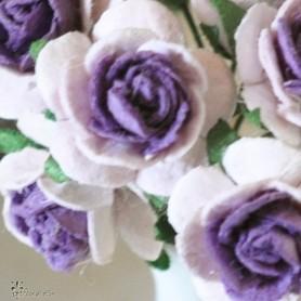 BEAUTIFUL PURPLE FLOWER MINIATURE LATI YELLOW PUKIFEE BJD BLYTHE PULLIP BARBIE DOLL ROOM DIORAMA DOLLHOUSE