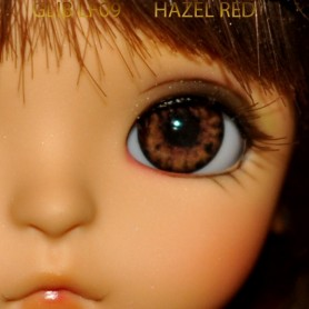 YEUX GLIB RED HAZEL 10LF09 REALISTIC EYES POUPÉE BJD BALL JOINTED DOLL LATI YELLOW PUKIFEE 10 mm