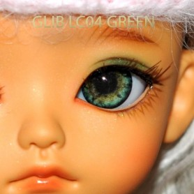 YEUX GLIB GREEN 10LC04 REALISTIC EYES POUPÉE BJD BALL JOINTED DOLL LATI YELLOW PUKIFEE 10 mm