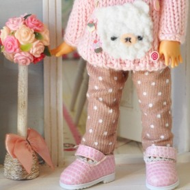 COFFEE & MILK PANTS OUTFIT FOR BJD LATI YELLOW PUKIFEE AND OTHER SMALL DOLLS