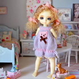 COMBISHORT OUTFIT FOR BJD LATI YELLOW SP (20 CM) AND OTHER SMALL DOLLS