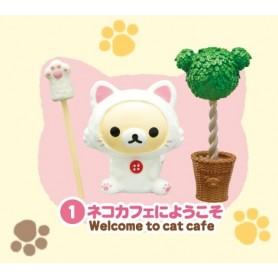RE-MENT MINIATURE SAN-X RILAKKUMA NONBIRI NEKO CAFE CAT BARBIE BJD BLYTHE PULLIP DIORAMAS PLAYSCALE DOLLHOUSE