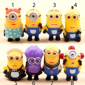 "MINION FIGURINE TOYS FOR BJD LATI YELLOW PUKIFEE BLYTHE PULLIP BARBIE AND OTHER 6"" DOLLS"