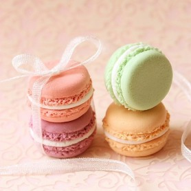 5 PALE PINK MACARONS MINIATURE TAILLE BARBIE FASHION ROYALTY BLYTHE PULLIP SYBARITE TONNER FICON JAMIESHOW DIORAMA DOLLHOUSE