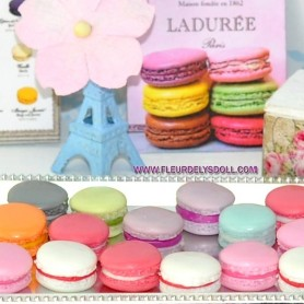 2 MACARONS MINIATURE TAILLE BARBIE FASHION ROYALTY BLYTHE PULLIP SYBARITE TONNER FICON JAMIESHOW DIORAMA DOLLHOUSE
