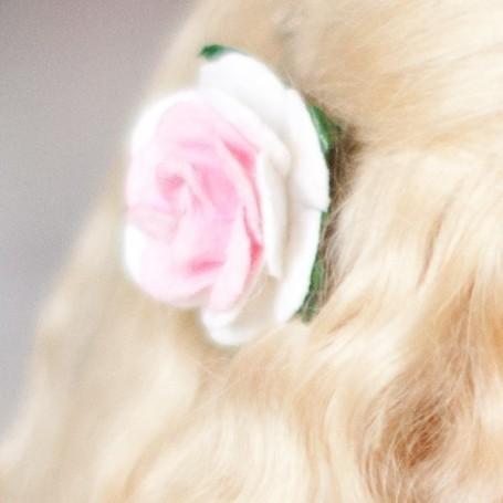 ROSE HAIR CLIP 2 CM FOR CUSTOM BJD DOLL BLYTHE PULLIP LATI PUKIFEE MEADOWDOLLS