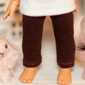 "BROWN LEGGING OUTFIT FOR BJD LATI YELLOW PUKIFEE AND OTHER 6"" DOLLS"