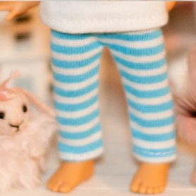 "BLUE STRIPES LEGGING OUTFIT FOR BJD LATI YELLOW PUKIFEE AND OTHER 6"" DOLLS"