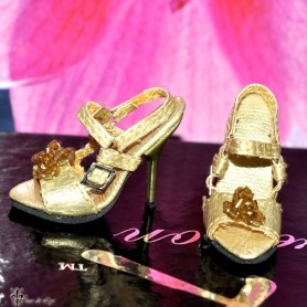 CHIC GOLD STILETTO SHOES FOR SYBARITE TONNER FICON JAMIESHOW DOLL