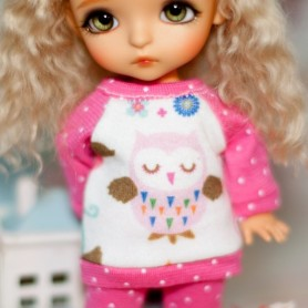 SWEATER LEGGINGS AND HAT OUTFIT FOR BJD LATI YELLOW PUKIFEE IRREALDOLL LUTS DELF MYMEADOWS DOLLS NAVI CHARA .. TWINKLES DOLL