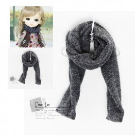 GREY SCARF OUTFIT FROM CLEAR LAN FOR BJD LATI YELLOW PUKIFEE AND OTHER SMALL DOLLS