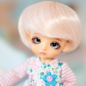 """PERRUQUE WIG PINK BOB BJD LATI WHITE LATIDOLL PUKIPUKI FAIRYLAND DOLLZONE MOMO 3/4"""""""