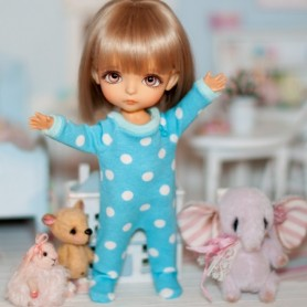 "OVERALL OR PYJAMA OUTFIT FOR BJD LATI YELLOW PUKIFEE AND OTHER 6"" DOLLS"
