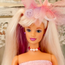 "BARBIE ARTICULATED CUSTOMISED ""LA VIE EN ROSE"" WITH OUTFIT"