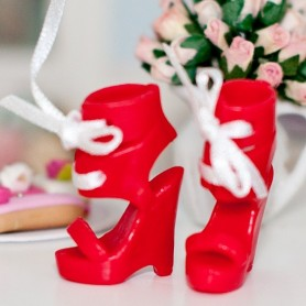 RED ROUGE SHOES FOR BARBIE SILKSTONE FASHION ROYALTY DOLL